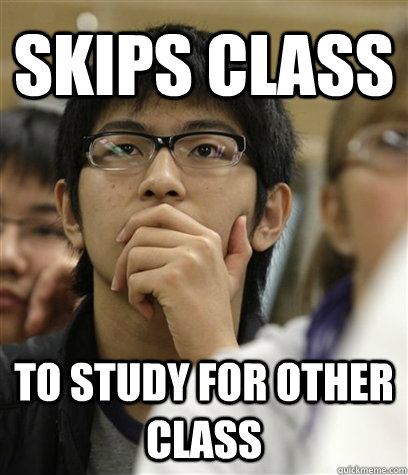Skips Class To Study for other class