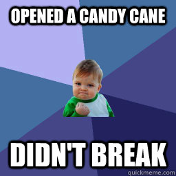 Opened a candy cane didn't break - Opened a candy cane didn't break  Misc