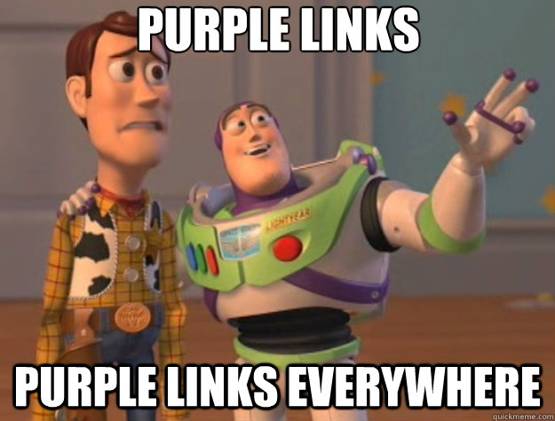 purple links purple links everywhere  Toy Story