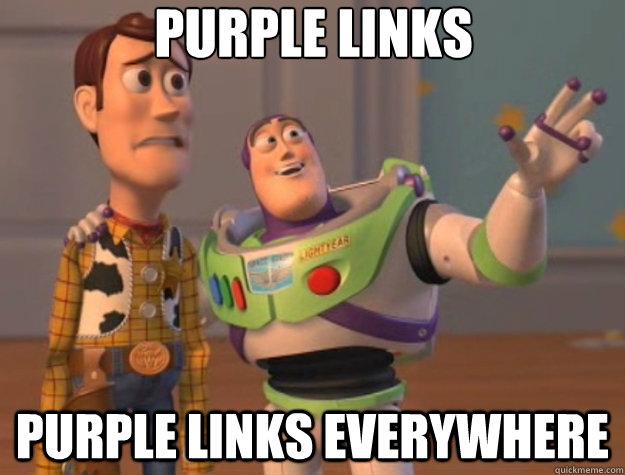 purple links purple links everywhere - purple links purple links everywhere  Toy Story