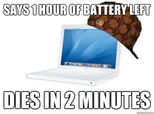 SAYS 1 HOUR OF BATTERY LEFT DIES IN 2 MINUTES