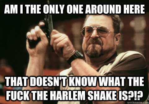 Am I the only one around here That doesn't know what the fuck the harlem shake is?!? - Am I the only one around here That doesn't know what the fuck the harlem shake is?!?  Am I the only one