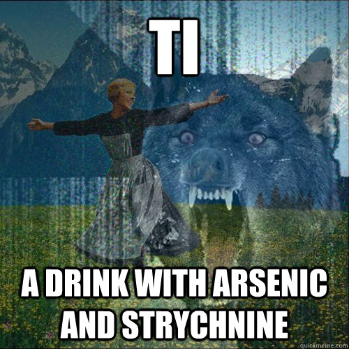 ti a drink with arsenic and strychnine - ti a drink with arsenic and strychnine  Misc
