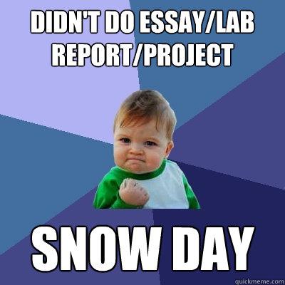 Snow day essay