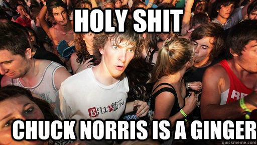 holy shit chuck norris is a ginger - holy shit chuck norris is a ginger  Sudden Clarity Clarence