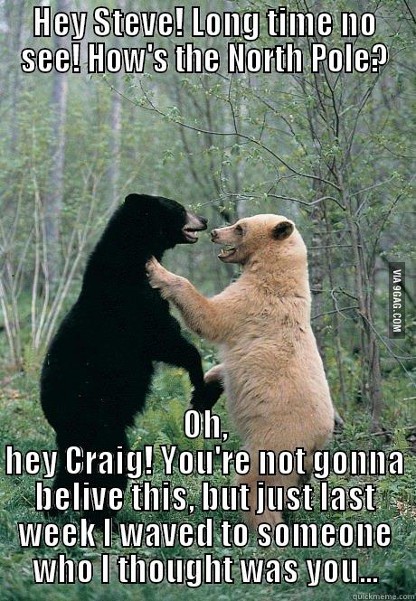 Found Craig - HEY STEVE! LONG TIME NO SEE! HOW'S THE NORTH POLE? OH, HEY CRAIG! YOU'RE NOT GONNA BELIVE THIS, BUT JUST LAST WEEK I WAVED TO SOMEONE WHO I THOUGHT WAS YOU... Misc
