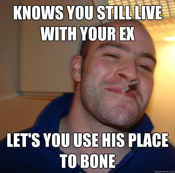 Knows you still live with your Ex Let's you use his place to bone - Knows you still live with your Ex Let's you use his place to bone  Misc