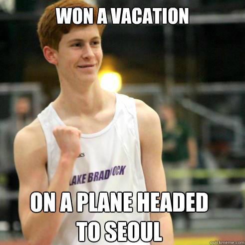 won a vacation on a plane headed to seoul - won a vacation on a plane headed to seoul  Success Ginger