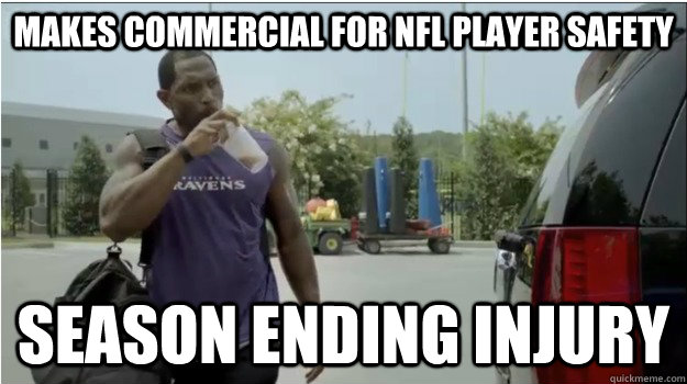 Makes Commercial for NFL Player Safety Season Ending Injury - Makes Commercial for NFL Player Safety Season Ending Injury  Ray Lewis