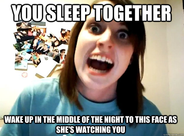 you sleep together wake up in the middle of the night to this face as she's watching you