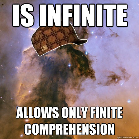 IS INFINITE ALLOWS ONLY FINITE COMPREHENSION
