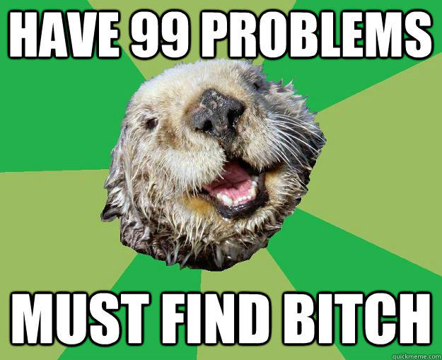 Have 99 problems must find bitch  OCD Otter