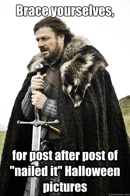 Brace yourselves, for post after post of