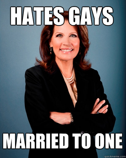 Hates Gays married to one