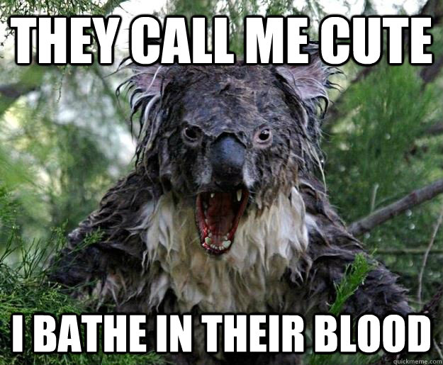 THEY CALL ME CUTE I BATHE IN THEIR BLOOD - THEY CALL ME CUTE I BATHE IN THEIR BLOOD  Insanity Koala
