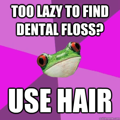 pin dental floss meme - photo #18