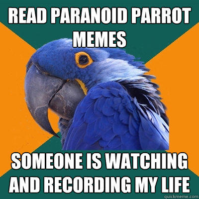 Read Paranoid Parrot Memes Someone is watching and recording my life - Read Paranoid Parrot Memes Someone is watching and recording my life  Paranoid Parrot
