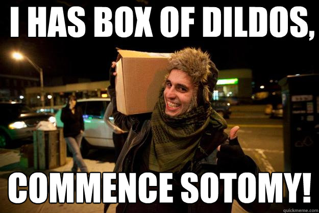 I HAS BOX OF DILDOS, COMMENCE SOTOMY!