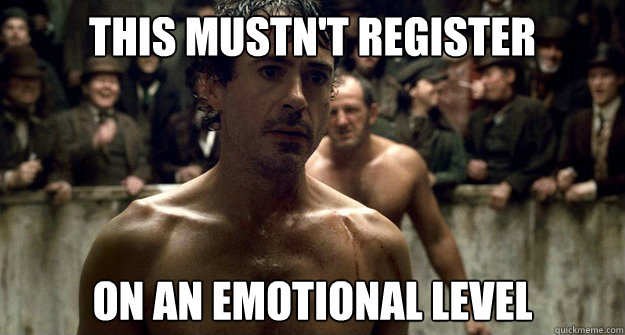 THIS MUSTN'T REGISTER  ON AN EMOTIONAL LEVEL - THIS MUSTN'T REGISTER  ON AN EMOTIONAL LEVEL  Misc