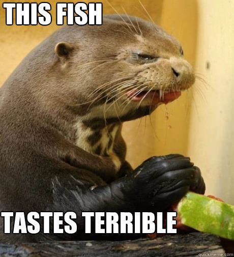 This fish Tastes terrible