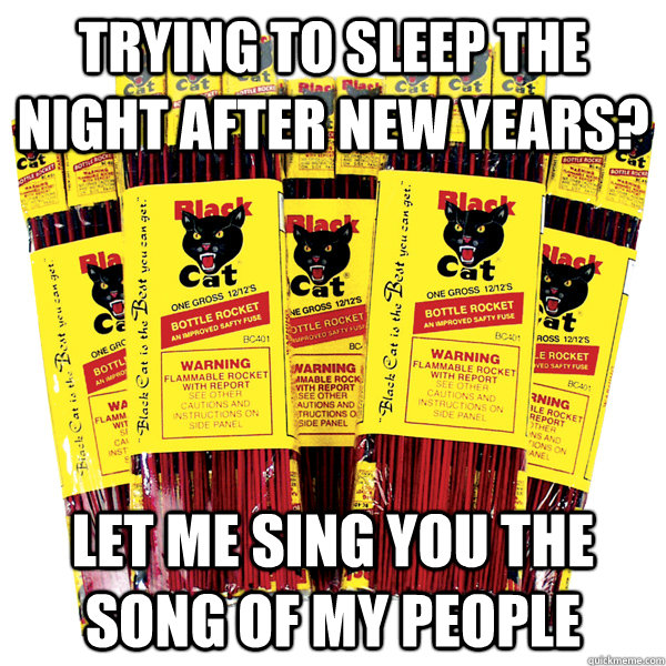 Trying to sleep the night after new years? Let me sing you the song of my people - Trying to sleep the night after new years? Let me sing you the song of my people  Misc