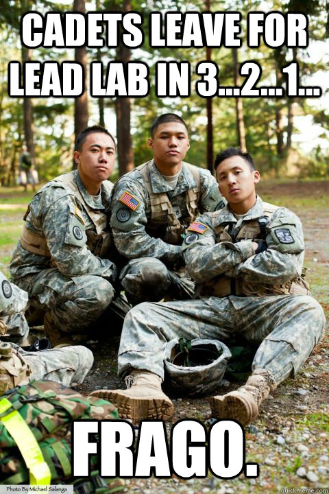 Cadets leave for lead lab in 3...2...1... FRAGO.