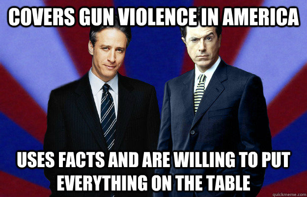 covers gun violence in america uses facts and are willing to put everything on the table