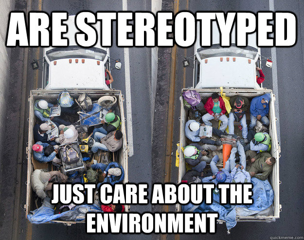 are stereotyped  just care about the environment - are stereotyped  just care about the environment  misunderstood mexicans