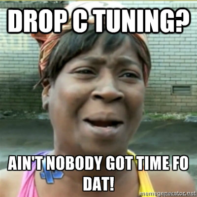 Drop C Tuning?  - Drop C Tuning?   Aint no body got time for that