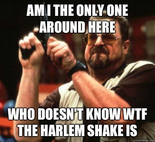Am i the only one around here Who doesn't know wtf the Harlem shake is - Am i the only one around here Who doesn't know wtf the Harlem shake is  Am I The Only One Around Here