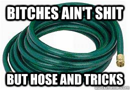 BITCHES AIN'T SHIT BUT HOSE AND TRICKS