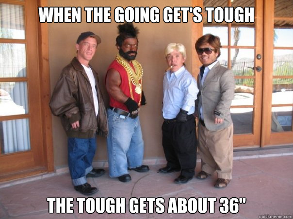 When the going get's tough The tough gets about 36