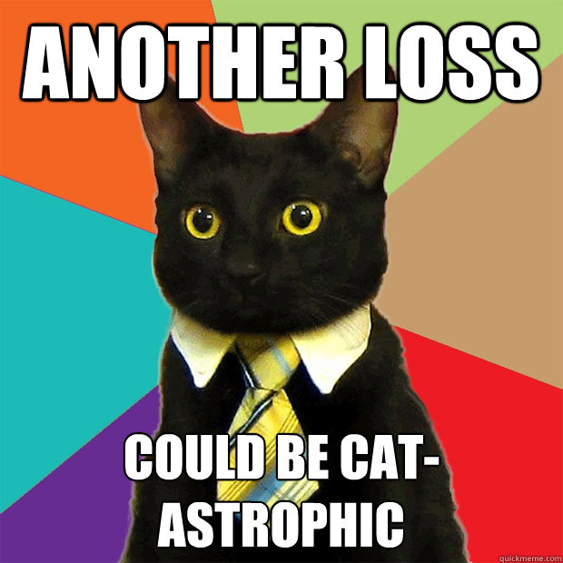 ANOTHER LOSS COULD BE CAT-ASTROPHIC - ANOTHER LOSS COULD BE CAT-ASTROPHIC  Business Cat
