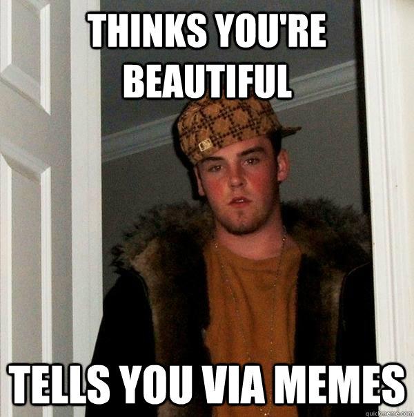ef7657911120f984b47915f5e5e5eedc4a383e2982a88b03907778cb7b1181ba thinks you're beautiful tells you via memes scumbag steve