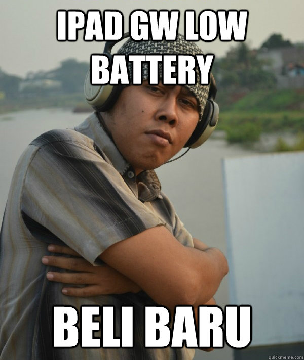 IPAD gw Low battery Beli baru