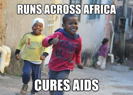 runs across africa cures aids