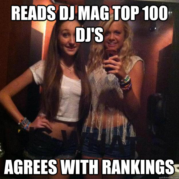 reads dj mag top 100 dj's agrees with rankings  Rave Girl