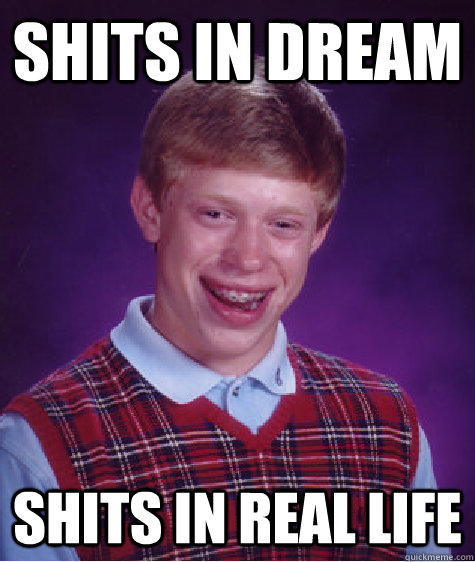 SHITS IN DREAM SHITS IN REAL LIFE - SHITS IN DREAM SHITS IN REAL LIFE  Bad Luck Brian