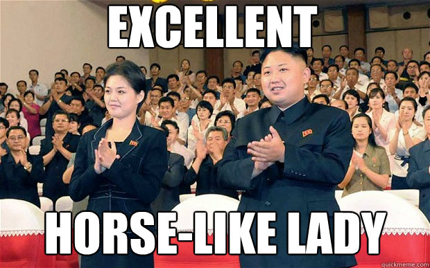 excellent horse-like lady - excellent horse-like lady  kim jong un
