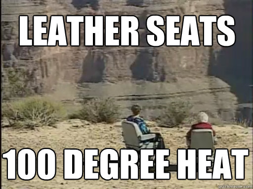 leather seats 100 degree heat