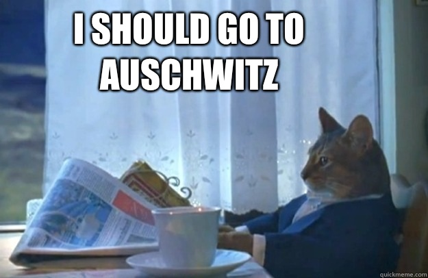 I should go to Auschwitz - I should go to Auschwitz  Sophisticated Cat