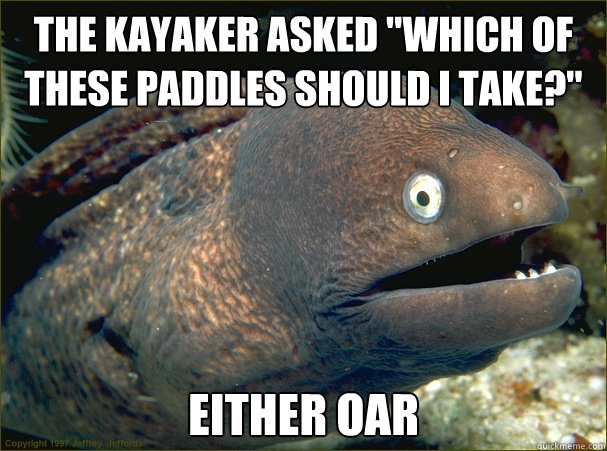 the kayaker asked