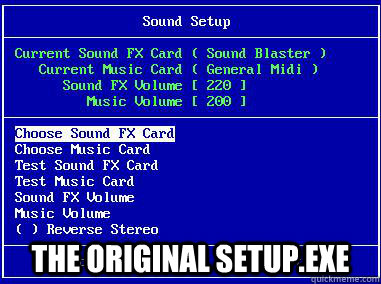 The original setup.exe -  The original setup.exe  og setup