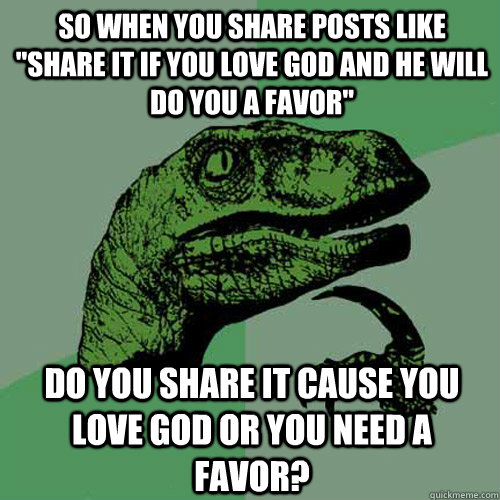 So when you share posts like