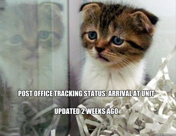 Post Office Tracking Status: Arrival at Unit  Updated 2 weeks ago