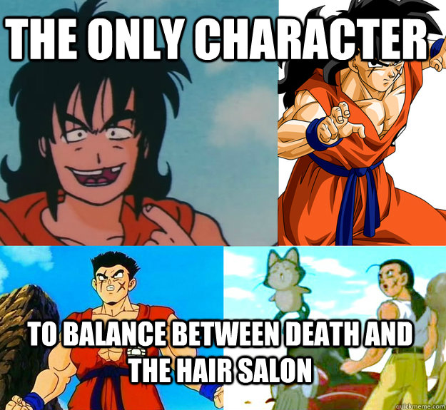 The Only Character To Balance Between Death And The Hair