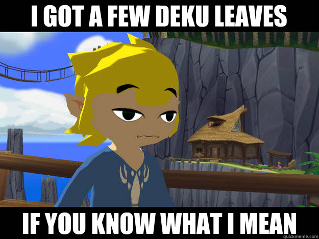 I got a few deku leaves if you know what i mean