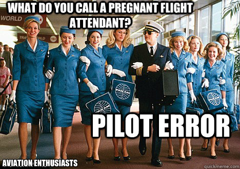 What do you call a pregnant flight attendant?  Pilot error Aviation Enthusiasts - What do you call a pregnant flight attendant?  Pilot error Aviation Enthusiasts  Pilot