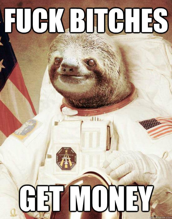 money sloth meme