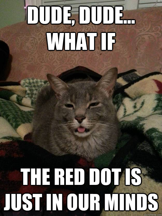 Dude, dude... what if The red dot is just in our minds